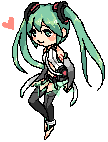 vocaloid : miku-append pixel by Sonny-Y