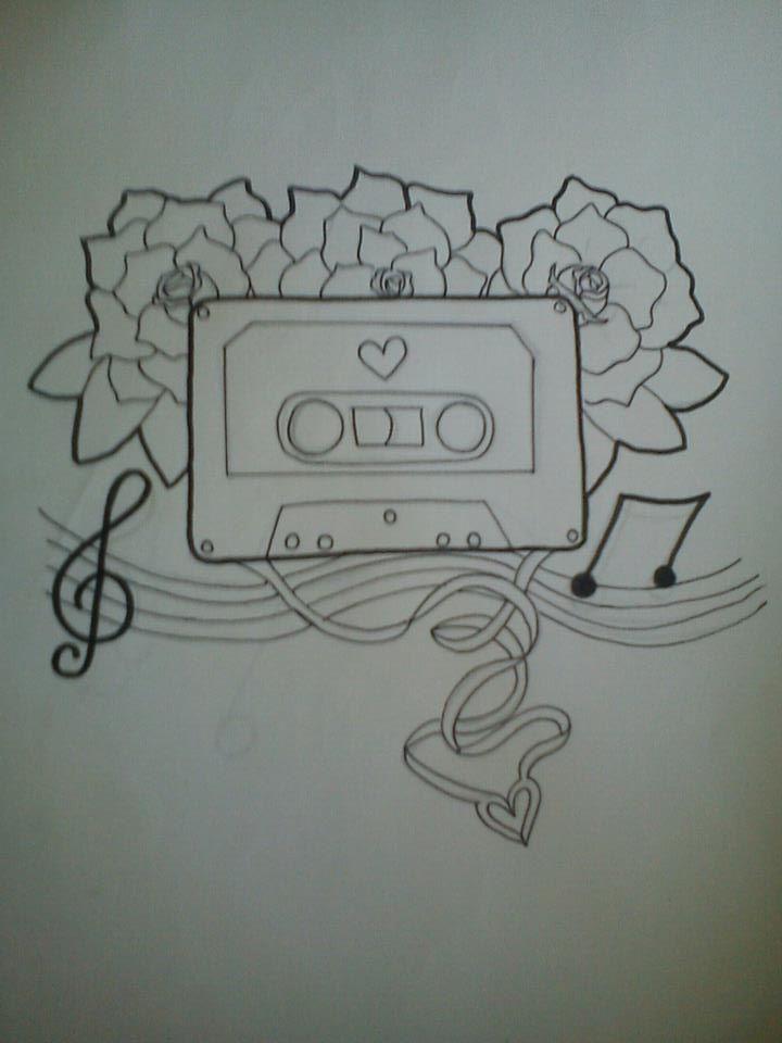 cassette tattoo design by danielledestroyed on deviantart. Black Bedroom Furniture Sets. Home Design Ideas