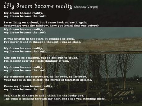 My Dream became Reality Lyrics
