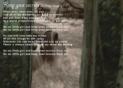 Keep Your Secrets Lyrics by johnnyverger