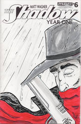 The Shadow: Year One #6 Cover by ZacAvalanche