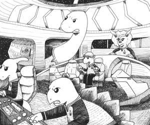 Star Dinos by ZacAvalanche