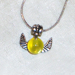 HP - Golden Snitch Necklace by LittleCharms