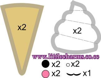 Ice Cream Plush Pattern by LittleCharms
