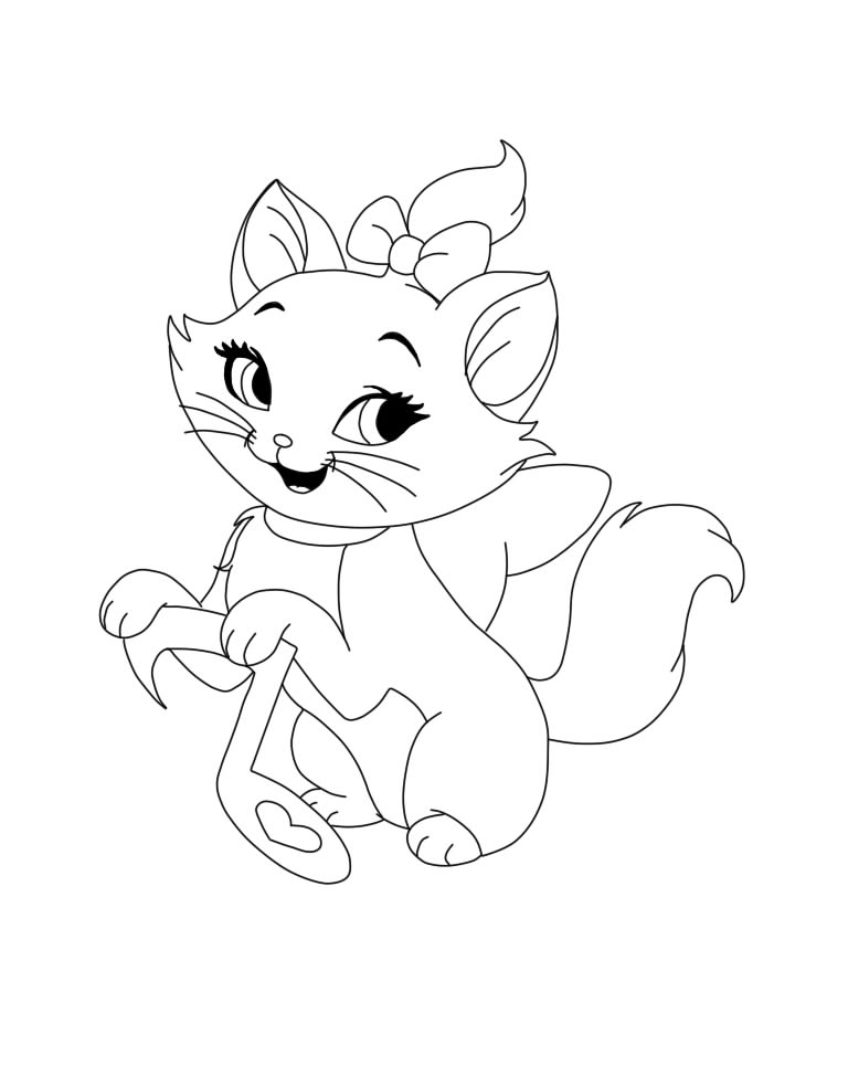 marie coloring pages - marie aristocats by xx etsuko xx on deviantart