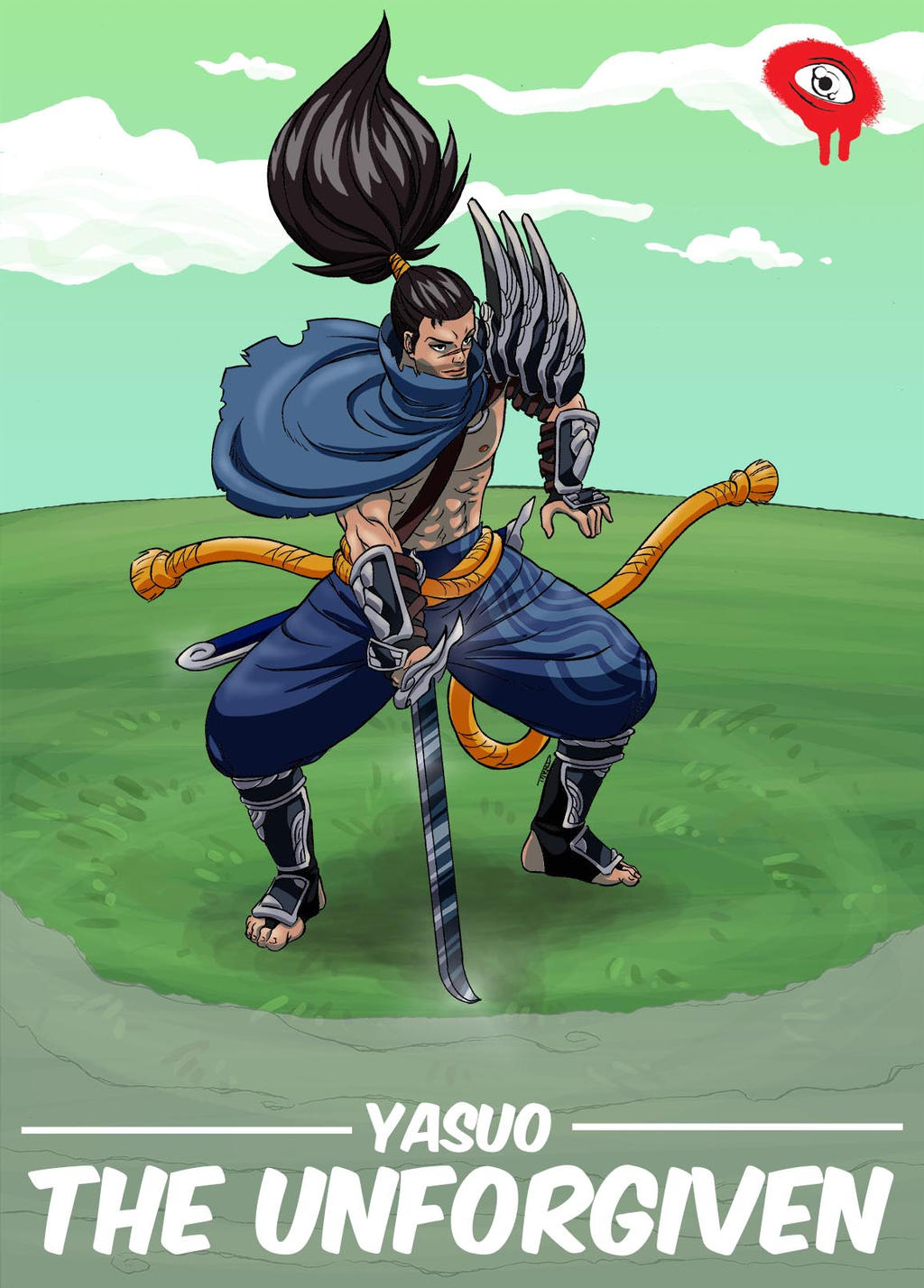 Yasuo Fan Art Contest LOL Yasuo (movie poste...