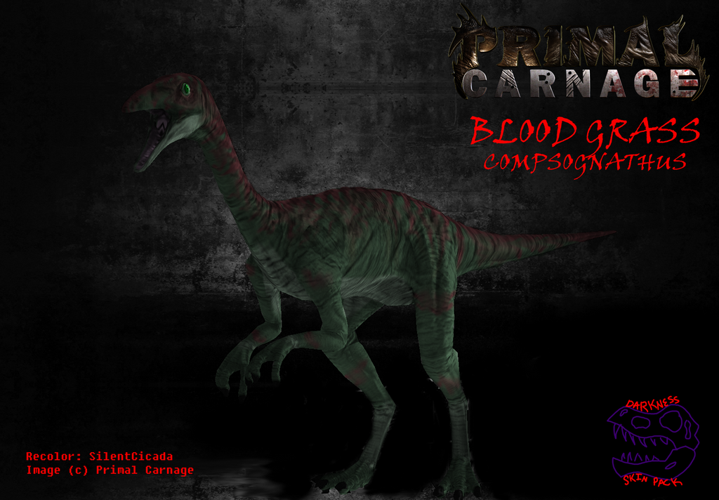 Primal Carnage Darkness - Blood Grass Compy by LavaSpinosaurus
