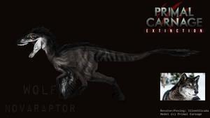Primal Carnage Skin Recolor - Wolf Novaraptor