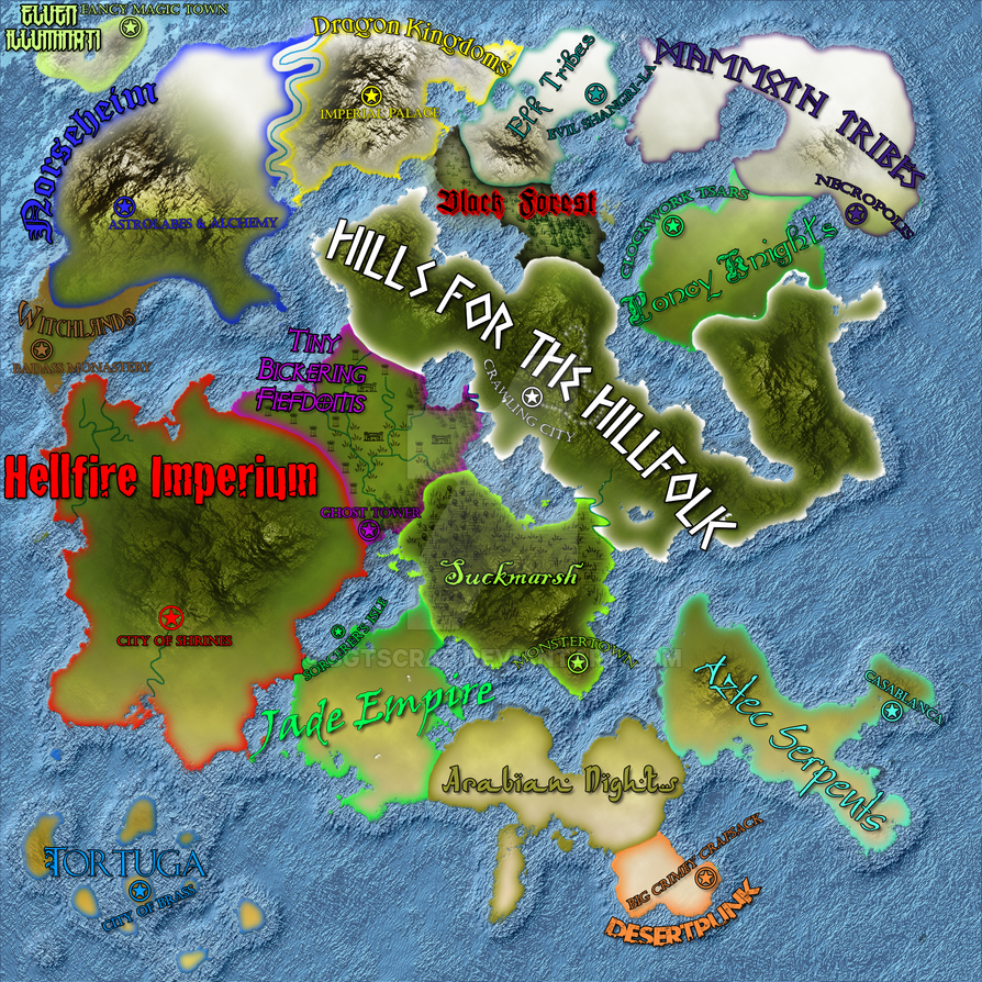 Mashup Of The Only Fantasy Map Youll Ever Need By SgtScrap On - I need a world map