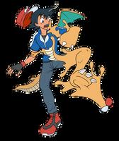 Ash into Dragonite 01 by midorimushiG