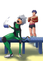 Ibuki into suit TF 01 by midorimushiG