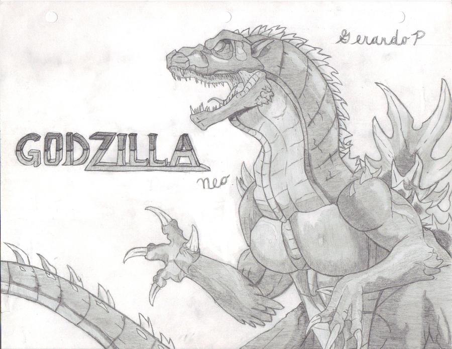 Godzilla Neo Drawings Godzilla Neo my Drawing by
