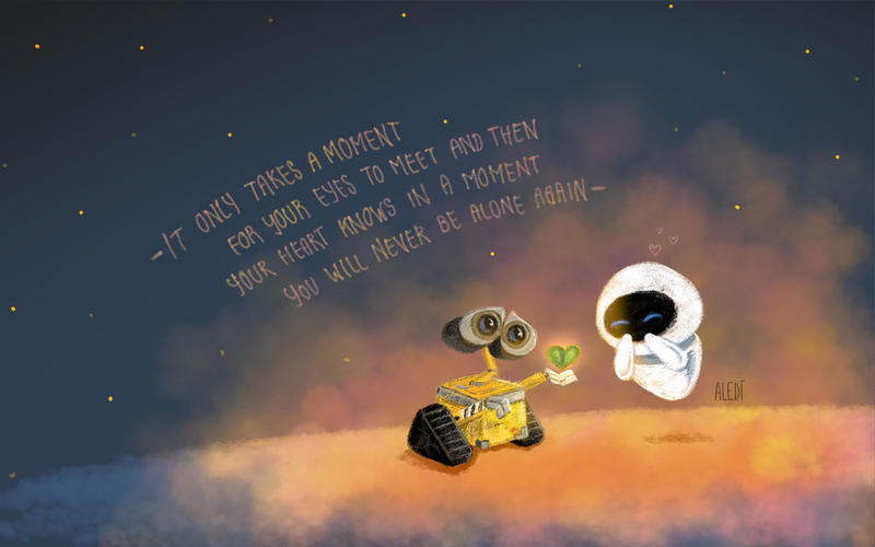 Wall E And Eva Wallpaper By Aledi