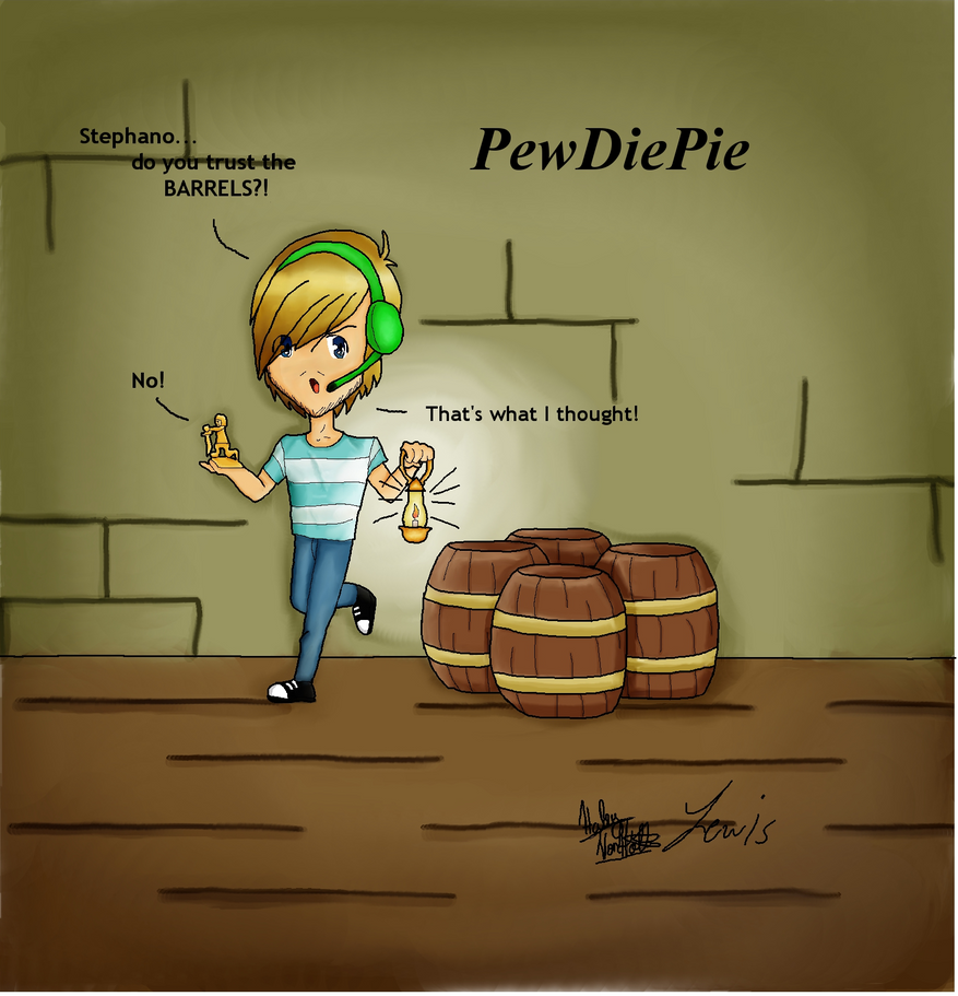 PewDiePie with Lewis (moved) by Broart888