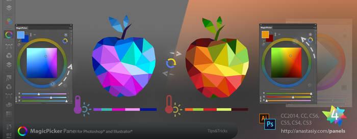 Tip#41: Temperature color wheel in Adobe software by Anastasiy
