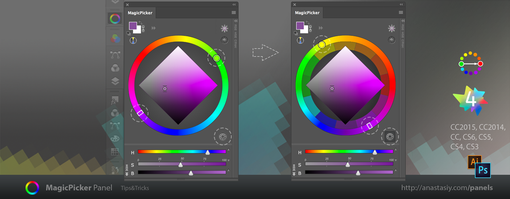 how to use digital colour wheel