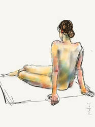 Live sketch in the studio, 40min by Anastasiy