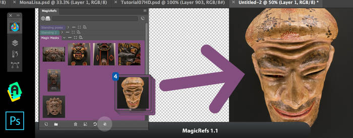 MagicRefs 1.1:insert image from panel to Photoshop by Anastasiy