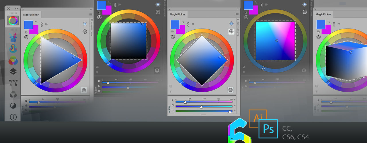 Tip#81:Color wheel modes/MagicPicker for Photoshop by Anastasiy