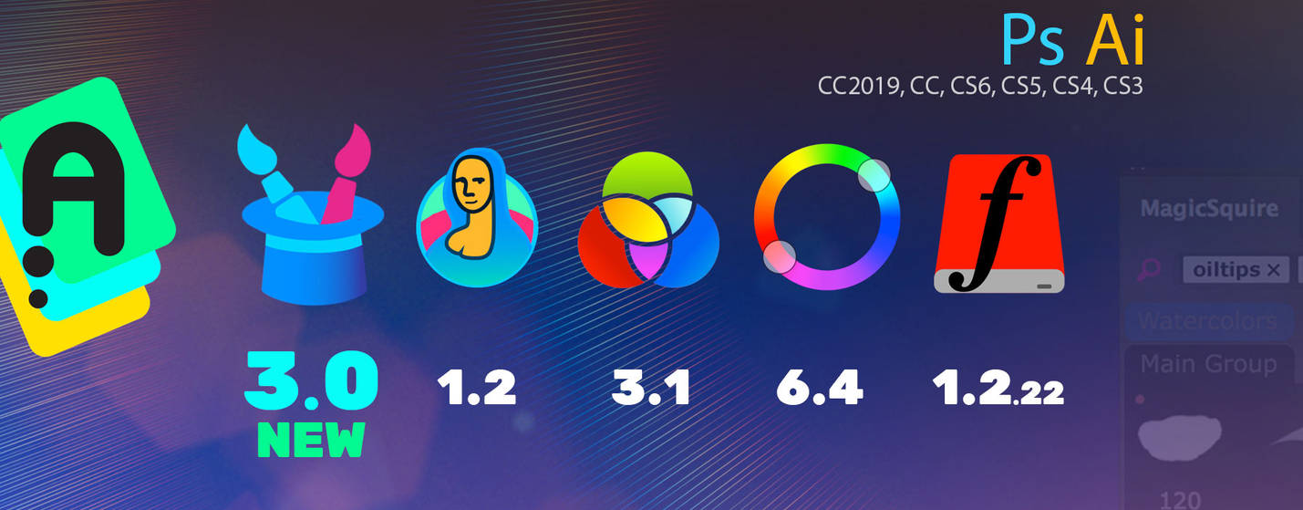 New updated Extensions for Photoshop / Illustrator by Anastasiy