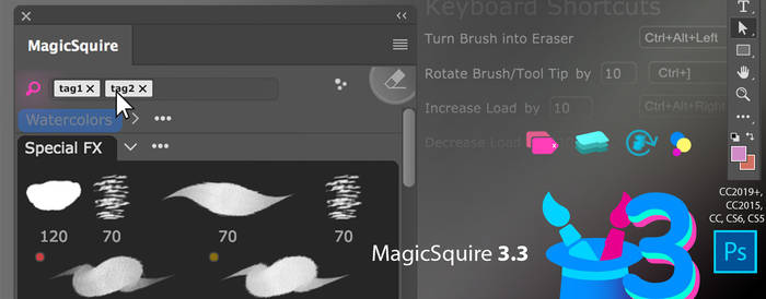 MagicSquire 3.3: better brush tag organizing in PS
