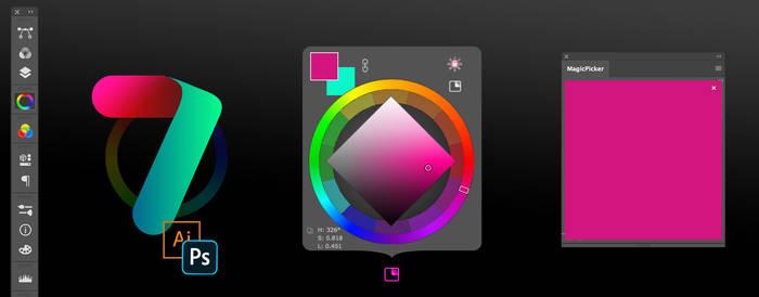 MagicPicker 7 color wheel HUD for PS