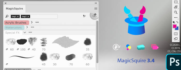 MagicSquire 3.4 update: Pro Brush Manager for PS