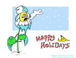 Winter Chill Holiday postcard