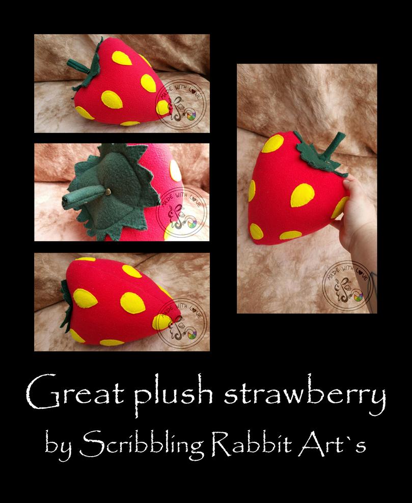 Plush strawberry by ScribblingRabbit-Art