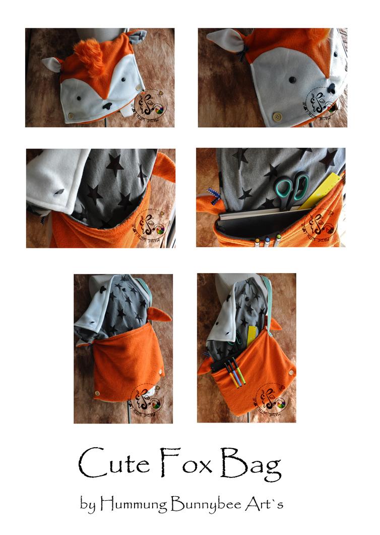 Cute Fox Bag by ScribblingRabbit-Art