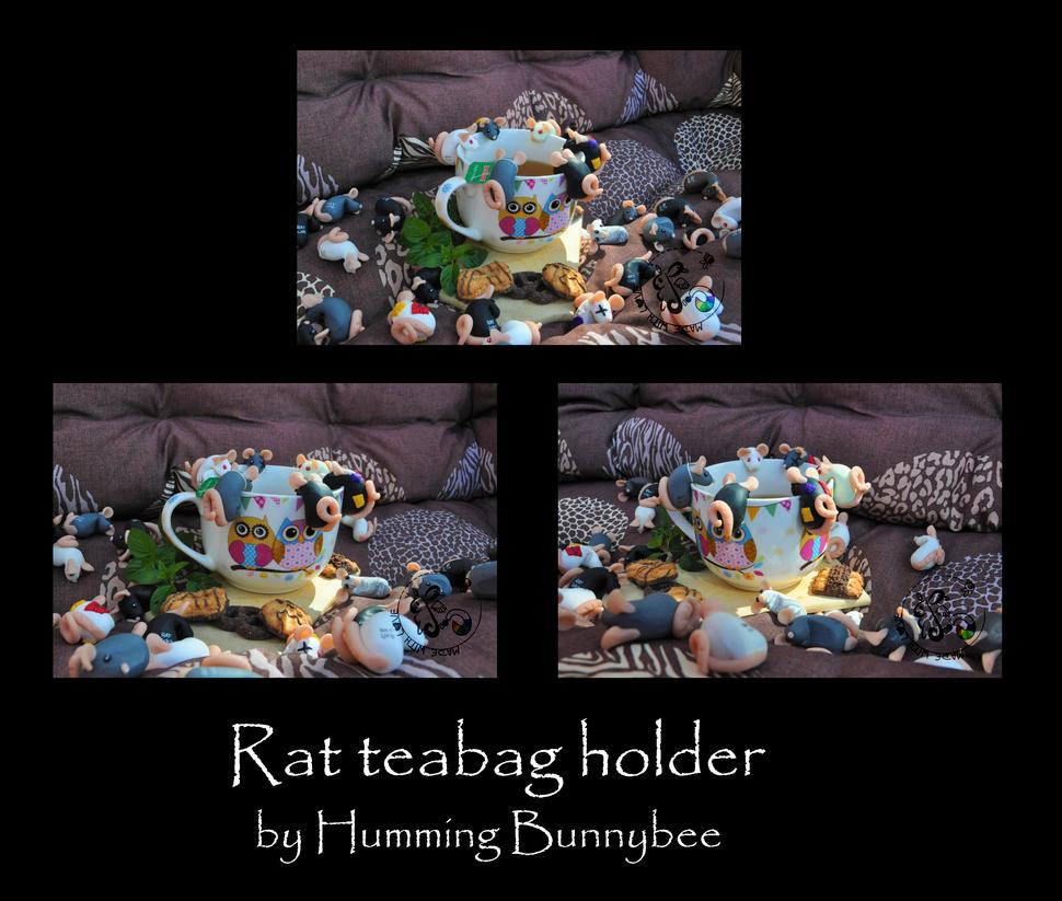 Rat teabag holder by ScribblingRabbit-Art