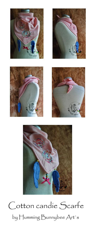 Candie cotton Scarfe by ScribblingRabbit-Art
