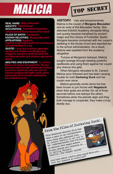 From the Files of Darkwing Duck: Malicia