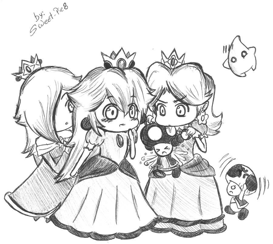 how to draw daisy y peach