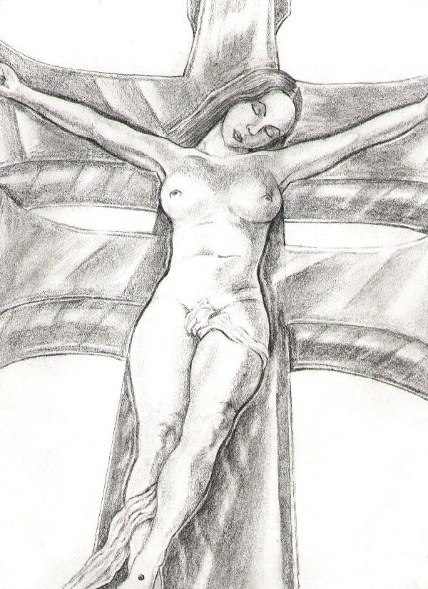 crucified woman by srta84