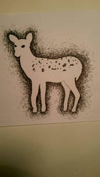Deer Scrumbling by Angela-Is-A-Mess