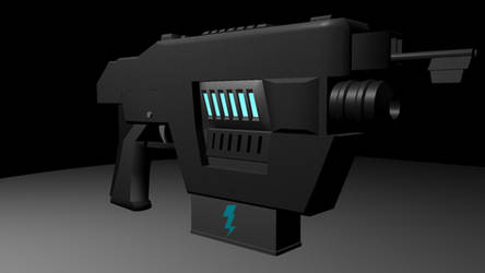 Plasma Pistol Early Render by Master-Vega