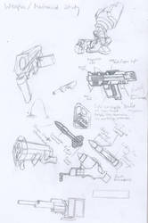 Weapon and Mechanics study by Master-Vega