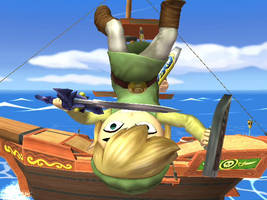 Toon Link Crashes by GintaxAlvissforever