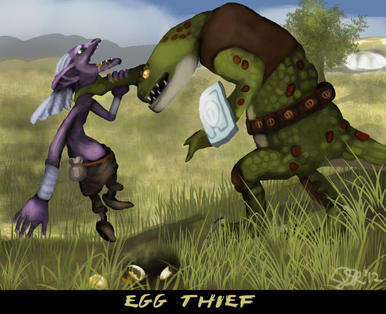 Egg thief by ragedaisy