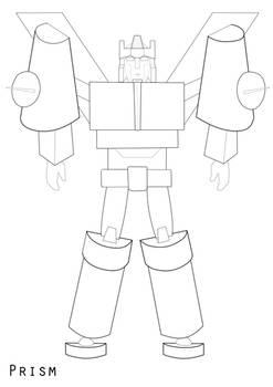 Prism in robot mode (line art)
