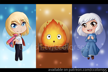 FanArt - Howl's Moving Castle Chibis