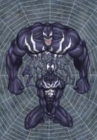 Venom Spiderman by nineknives