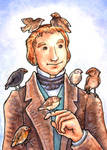 Charles with Finches