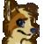 Blue fan avatar by Wrathpaw