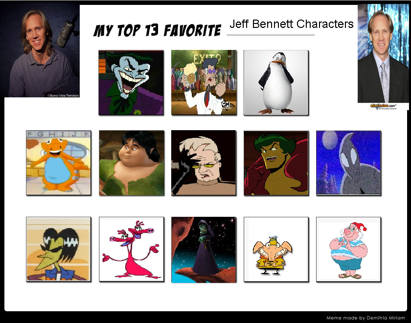 Top 13 Favorite Jeff Bennett Characters by Paula712 on ...