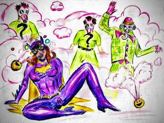 Batgirl Gets Giggle Gassed Reupload by KoLover69