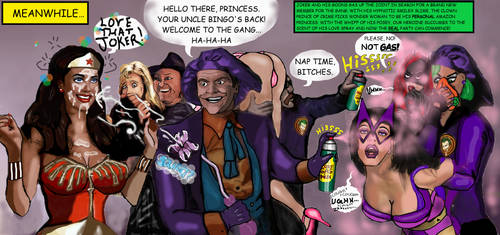 Joker Gang Gasses Bat-Ladies and Wonder Woman by KoLover69
