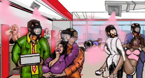 Laughing Gas Bank Robbery *no text* by KoLover69