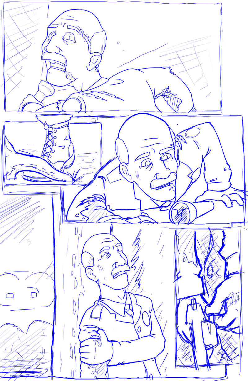 PANGEA test page pencils by CarbonComic